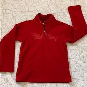 Old navy red sweater size 6-7 girls